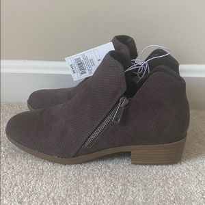 Target grey/brown booties with small heels